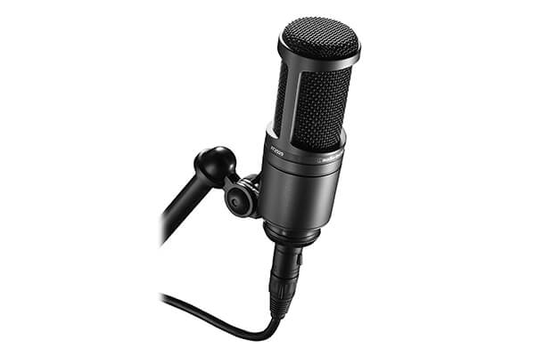 Audio-Technica AT2020 Cardioid Condenser Studio Microphone