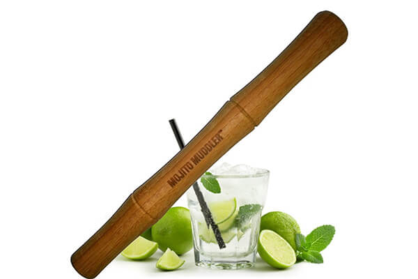 Mojito Muddler 11 In Professional-Grade Bamboo w Free Bar Spoon