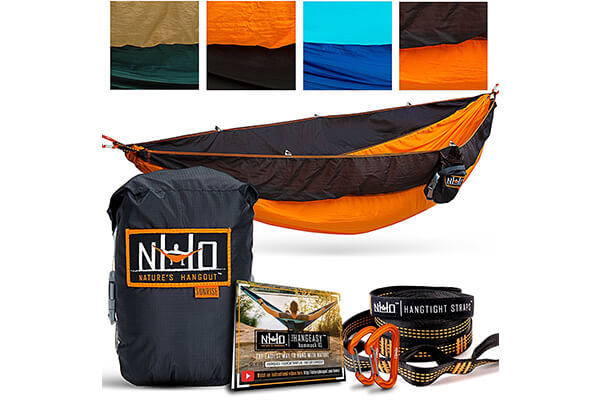 The HangEasy High-End Camping Hammock - Free Premium Adjustable Hanging Straps