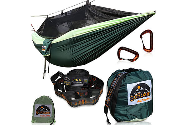 GoRoam Outdoors Camping Hammock with Mosquito