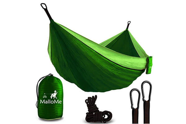 XL Double Parachute Camping Hammock - with Max 1000 lbs