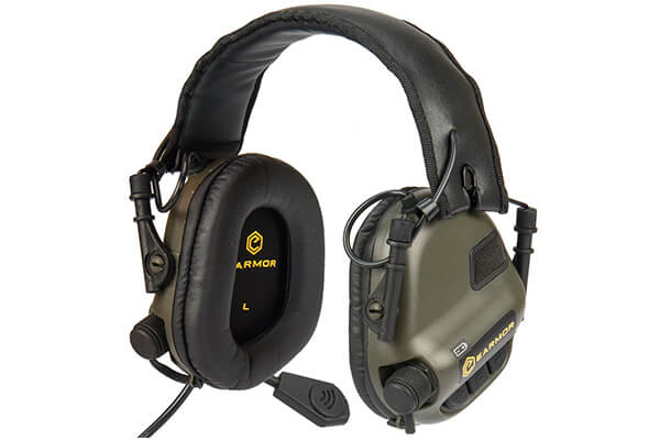 Electronic Tactical Earmuffs w/ AUX Input Sports Sound Hearing Protection