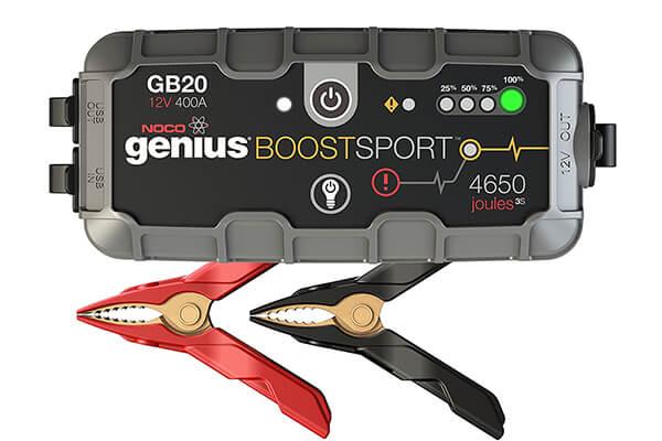 NOCO Genius Boost Sport GB20 400 Amp 12V UltraSafe Lithium Jump Starter