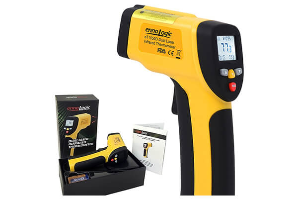Temperature Gun by ennoLogic - Accurate High-Temperature Dual Laser Infrared Thermometer