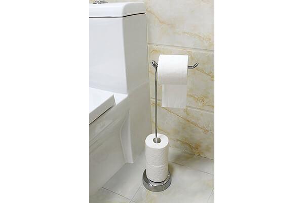BathSense Free Standing Rotating Toilet Paper Dispenser