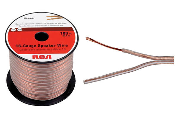 2 rca ah16100sr 100 ft 16gauge speaker wire