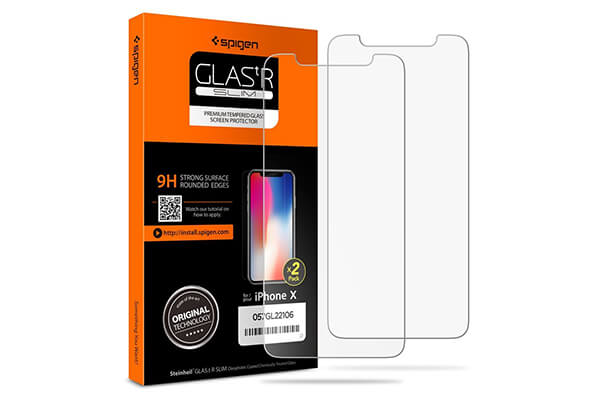 Spigen iPhone X Screen Protector Tempered Glass