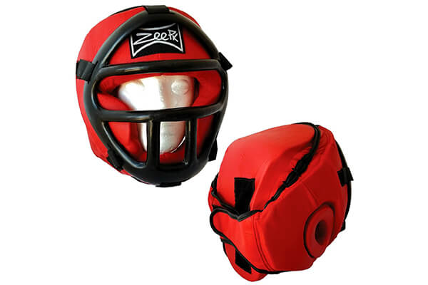 Zeepk PU Synthetic Leather Boxing MMA Protector Headgear UFC Fighting Head Guard Sparring Helmet
