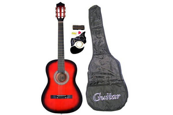 "38"" RED Acoustic Guitar Starter Package"
