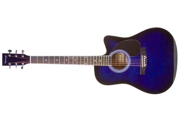 Full Size Blue Cutaway Acoustic Guitar