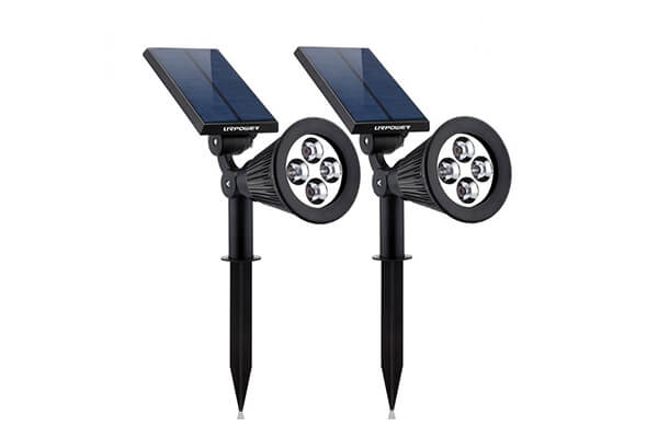 Solar Lights, URPOWER 2-in-1 Waterproof 4 LED Solar Spotlight Adjustable Wall Light