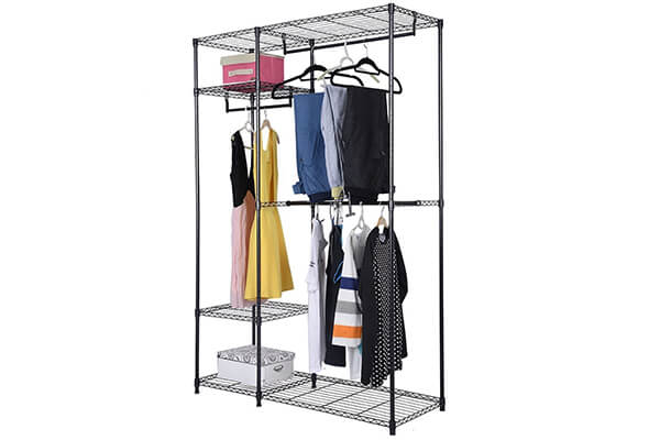 Safstar Portable Clothes Wardrobe Garment Rack