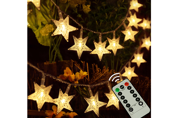 kingleder 25ft 50 LED Xmas Star Light