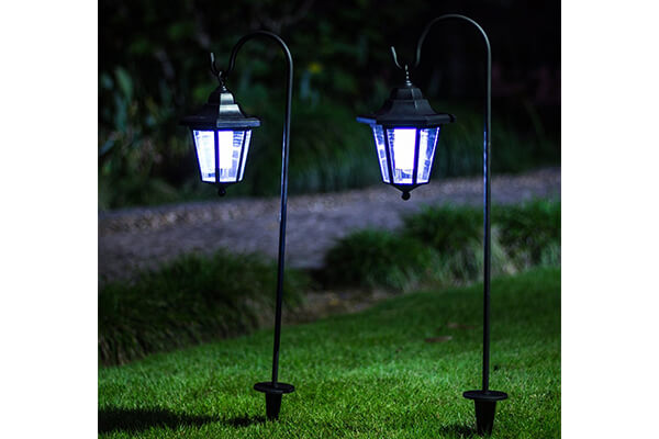 GIGALUMI 26 Inch Solar Lights Outdoor