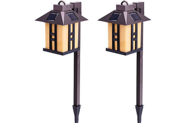 GIGALUMI Solar Powered Path Lights