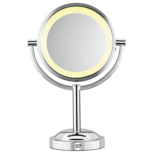 9. Conair Double-Sided Battery Operated Lighted Makeup Mirror
