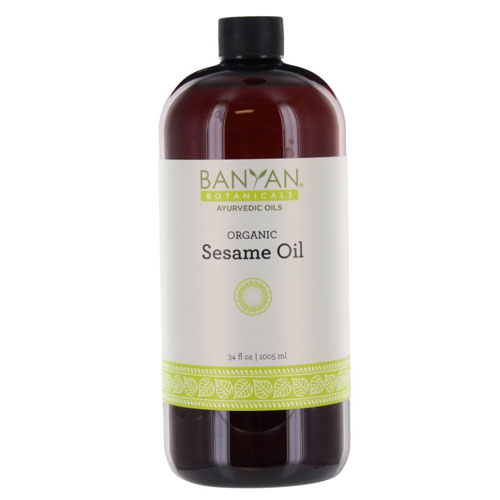 3. Banyan Botanicals Sesame Oil, 34 oz