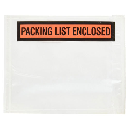 3. Packing List Enclosed Envelopes