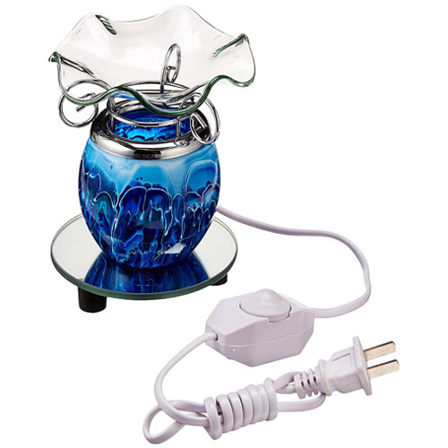 9. StealStreet SS-A-59201 Electric Aroma Oil Burner, Blue
