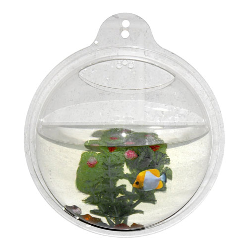 Wrapables Fish Bubble Wall Mounted Acrylic Bowl