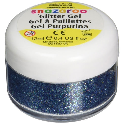 7. Snazaroo face and body glitter gel 12 ml multi-color