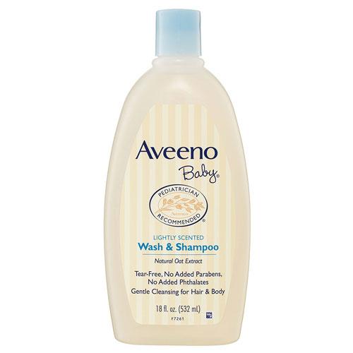 9. Aveeno Baby Shampoo and Wash