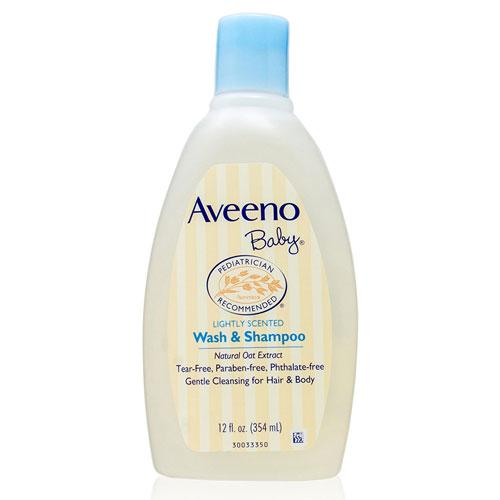 4. Aveeno Baby Shampoo and Wash