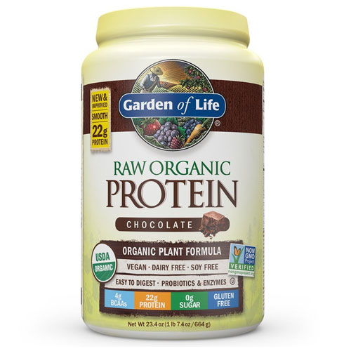 7. Garden of Life Raw Organic Protein Chocolate Powder