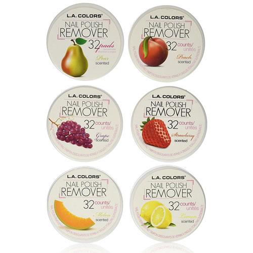 8. LA Colors Nail Polish Remover Pads, Acetone Free Fruit Scent