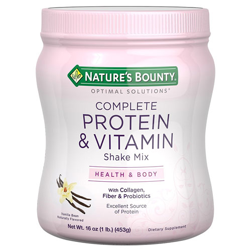 6. Nature's Bounty Optimal Solutions Protein Shake Vanilla