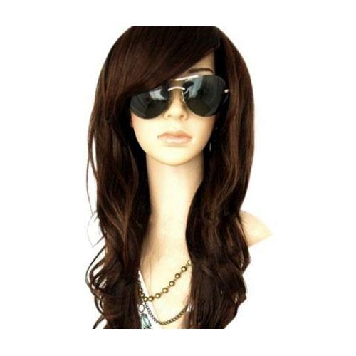 1. MelodySusie Dark Brown Curly Wig Glamorous Women Long Curly Wig