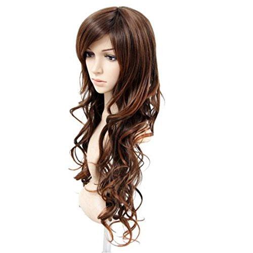 4. MelodySusie Light Brown Curly Wig