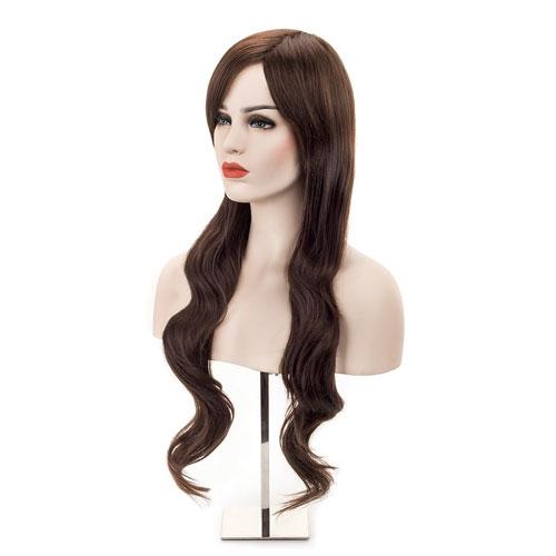 3. MelodySusie Dark Brown Curly Wig