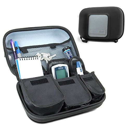 1. Diabetic Supplies Travel Case Organizer