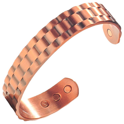 6. Earth Therapy - Pure Copper Magnetic Heavyweight Cuff Bracelet