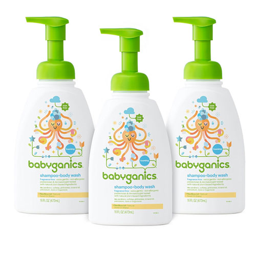 2. Babyganics Body Wash and Baby Shampoo