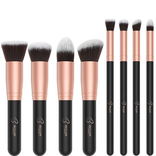 7. Makeup Brushes BESTOPE Premium Cosmetic Makeup Brush Set
