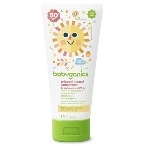 10. Babyganics Baby Sunscreen Lotion