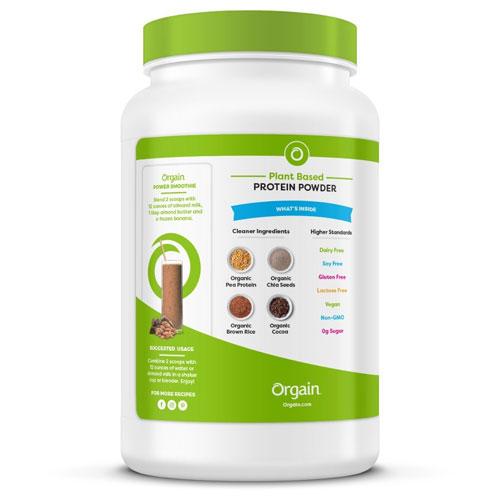 9. Orgain Organic Plant Based Protein Powder, Sweet Vanilla Bean