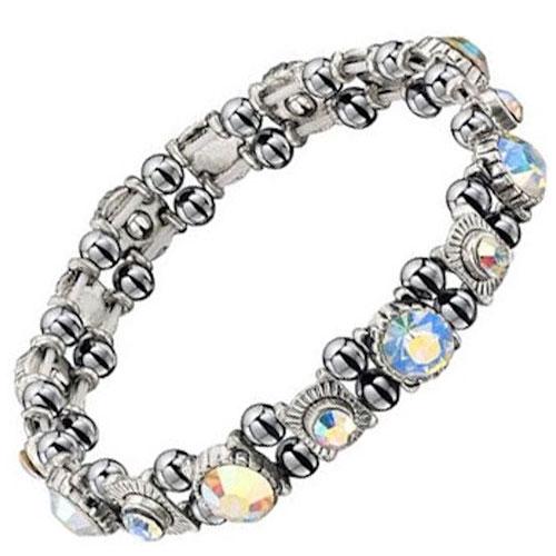8. Premium Sparkling Crystal Hematite Magnetic Bracelet
