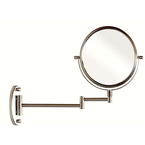 6. DecoBros 9.8-Inch Two-Sided Swivel Wall Mount Mirror