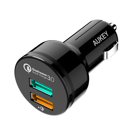 4. AUKEY 30W 2-Port USB Car Charger