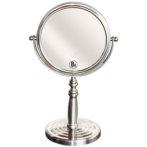 7. DecoBros 6-Inch Tabletop Two-Sided Swivel Vanity Mirror