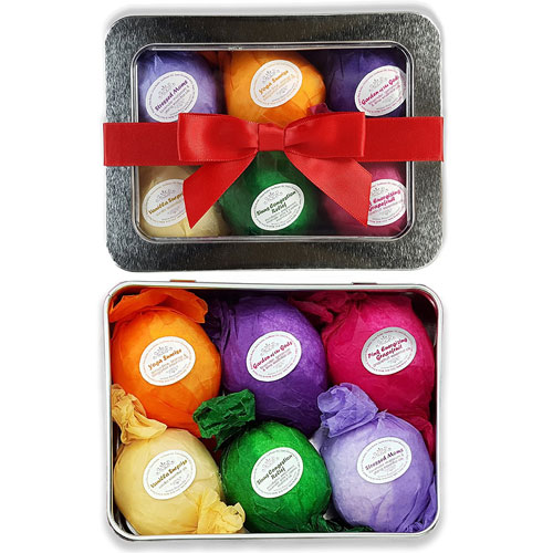 6. Bath Bombs Gift Set - USA Made - Lush Bubble Bath Alternative