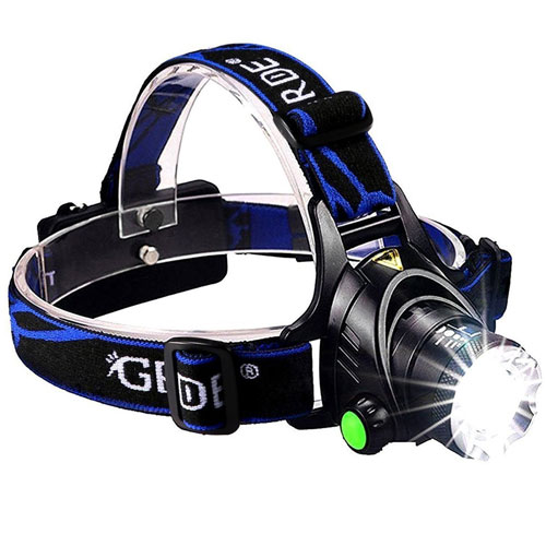 8. GRDE Zoomable 3 Modes Super Bright LED Headlamp