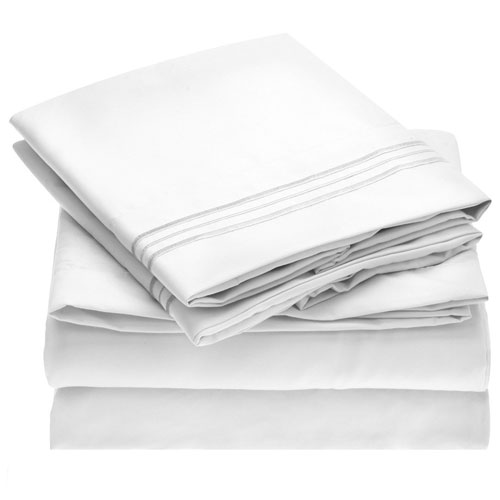 Mellanni Bed Sheet Set - Brushed Microfiber 1800 Bedding