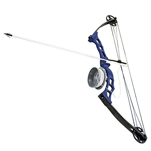 Scuba Choice Bowfishing Adult Bow Archery Complete Set (Reel + Arrow), Blue