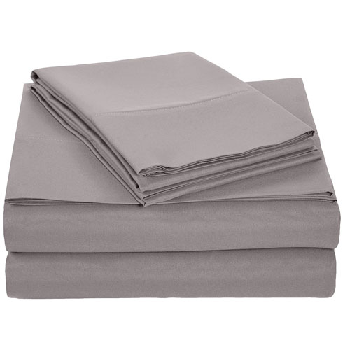 The AmazonBasics Microfiber Sheet Set (Queen, Dark Grey)