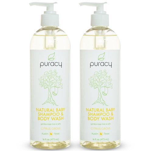 1. Puracy Natural Body Wash and Baby Shampoo