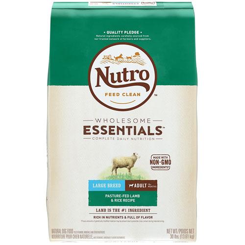 NUTRO WHOLESOME ESSENTIALS Large Breed Adult Pasture-Fed Lamb & Rice Recipe Dog Food
